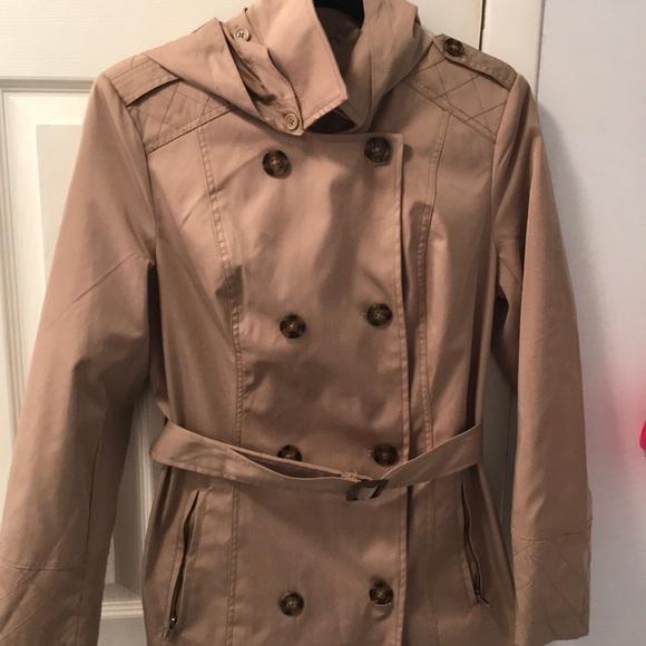c49f9052abf Dress Barn Jackets & Blazers - Dress Barn Tan raincoat